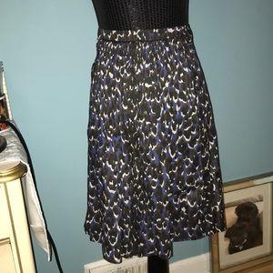 Elite Tahari blue black brown abstract skirt